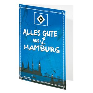 "HSV Glückwunschkarte Karte ""Alles Gute aus Hamburg"" Hamburger SV"