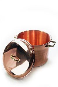 'CopperGarden' Kupfertopf 12L, glatt mit Griffen & Deckel
