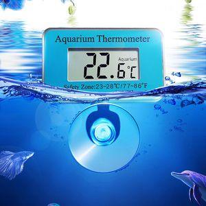 Aquarium Thermometer LED Digital Aquarium Wasser Temperatur mit Saugnapf Pet Aquarium Lieferungen Zubehör