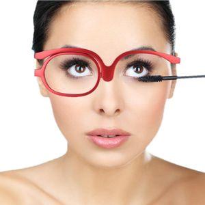 Make-Up Schminkbrille mit klappbaren Brillenglas(Rot 150)