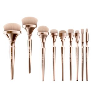 9x Soft Makeup Kosmetikpinsel Set Foundation Blush Concealer Puderpinsel