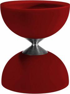 Acrobat diabolo 105 Gummi 12 x 10,5 cm rot