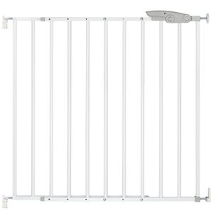 ib style® TIMY Treppengitter 73-107 cm Türschutzgitter Sicherheitsgitter für Kinder KEINE STOLPERKANTE zum schrauben