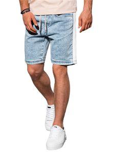 Ombre Herren Jeans Chino Shorts Kurzhose Kurze Hose Bermuda Slim Fit Sommer Freizeit Sport 3 Farben S-XXL W221 Hellblau Jeans XL