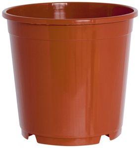10er Set Pflanzkübel CONTAINERTOPF 27 cm rund aus Kunststoff Sparpaket