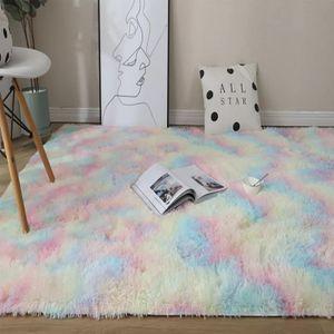 Neue Regenbogen Teppiche Schöne Shaggy Teppiche,120x160cm,Kinder Zimmer Wohnzimmer Nacht Teppiche