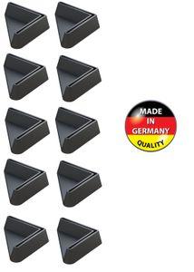 10x Winkelfüße 30x30 Endkappen für Winkelprofile 30mm Profile kunststoff Möbel Abdeckung