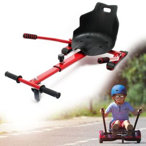 Sitzscooter Rot Elektrokart Kartsitz für Hoverboard Self Balance Scooter
