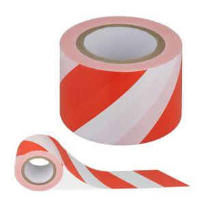relaxdays Absperrband rot-weiß 200m