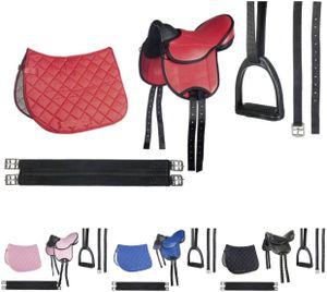 HKM Shettysattel-Set -Beginner-, Farbe:9100 schwarz, Größe:St