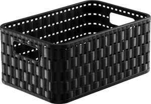 Rotho Country Plastikkorb / Aufbewahrungsbox, 4 L,  A6 Schwarz, EF250252