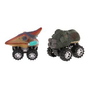 2xSmall Dinosaurier Zurückziehen Auto Spielzeug Modell Auto Mini Spielzeug Auto Kunststoff Kinder Geschenk