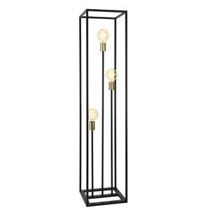 Stehleuchte 140cm Stehlampe Standleuchte Stand Lampe Metall 3-flammig [lux.pro]