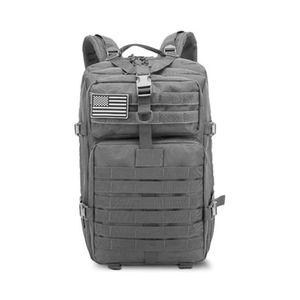 Großer Bundeswehr Rucksack 45l in Grau, Militär Kampfrucksack, Molle Army 3-DayPack, US Assault Pack, BW Armee Outdoor Tasche