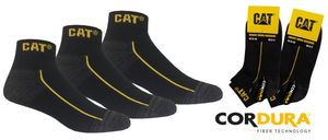 """CAT Caterpillar 12 Paar kurze """"Robust"""" Arbeitssneaker in 43-46 in Schwarz"""