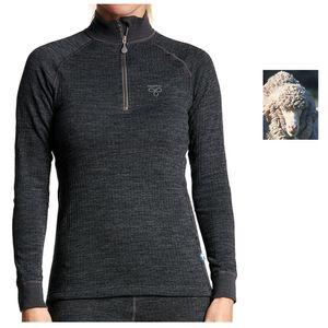 TERMO - Wool Original 2.0 - Jumper, long sleeve mit Zip - dickes Merino Damen Longshirt Pullover, Damengröße:40/L