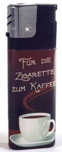 1 x Feuerzeug XXL Kaffeepause Für die Zigarette zum Kaffee - ca. 11,5 cm