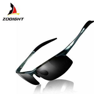 Zodight Herren Polarisierte Treiber Glasses Sportbrille Sonnenbrille Al-Mg Metallrahme Ultra leicht   grau