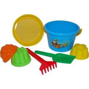 WADER Eimergarnitur Set 7-tlg. Kinder Sand Spielzeug Sandspielzeug Sandkiste