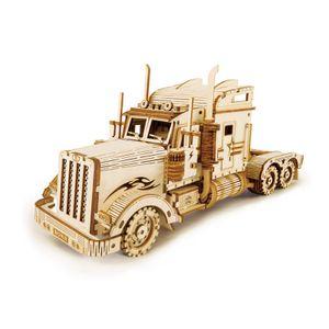 3D-Puzzle Holzmodellbausatz Für Erwachsene Für Kinder Modellbau-Kit-Geschenke Für Jugendliche Und Erwachsene Amerikanischer Long Head Truck