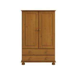 Steens - Richmond Kleiderschrank 2 Türen und 2 Schubladen - Material: Kiefer - Verarbeitung: Gebeizt-Lackert - H x B x T - 137 x 88 x 47 cm; 3022220034000F