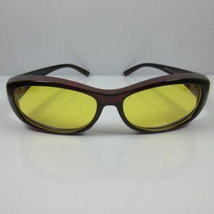 Nachtfahrbrille Überbrille Sonnenbrille Night Sight braun für Brillenträger