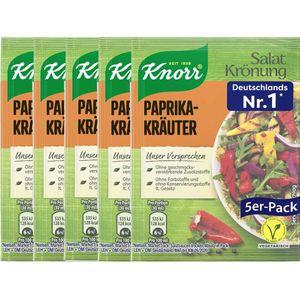 Knorr Salatkrönung Paprika Kräuter klares Dressing 5x 9g 5er 5er Pack