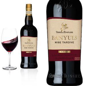 3er Karton 2017 Banyuls Rimage Mise Tardive süß von Terres des Templiers - Rotwein