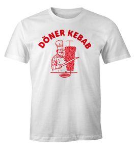 Döner Shirt Herren Kebab Dönerspieß Fun T-Shirt Moonworks® weiß L