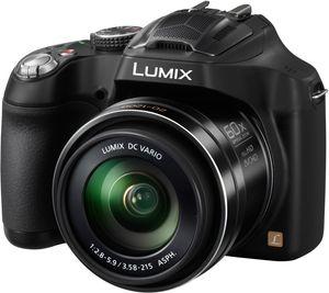 Panasonic Lumix DMC-FZ72 16,1 Megapixel Full HD Bridge-Kamera, 3D-Modus, 60-fach optischer/5-fach digitaler Zoom, 20 - 1200 mm Brennweite, optischer Bildstabilisator, 1/2,3'' Live MOS-Sensor, F2,8 (W) - F5,9 (T), 7,62 cm (3 Zoll) Display, HDMI, Gesichtserkennung; schwarz