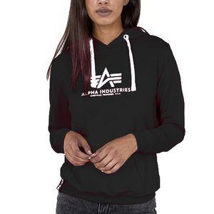 Alpha Industries Damen New Basic Hoodie Wmn schwarz XS