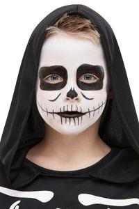 Skelett Aqua FX Make Up Set für Kinder für Halloween