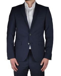 Daniel Hechter - Slim Fit - Herren Baukasten Anzug aus 100% Schurwolle in Blau oder Schwarz  (100102), Größe:28, Farbe:Dunkelblau (690)