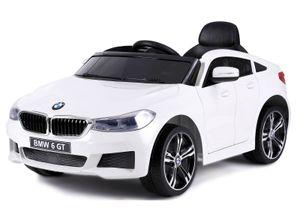 BMW 6er GT KINDER ELEKTRO AUTO KINDERFAHRZEUG SPORTWAGEN USB MP3 EVA Soft Reifen 12V Weiß