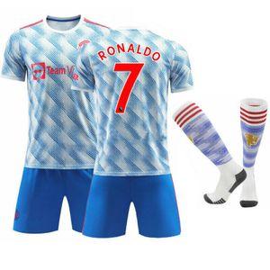 2021/22 Manchester United Auswärt Trikot CR7 Cristiano Ronaldo #7 Sportbekleidung-Sets, Größe: M