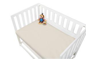 Jersey-Spannbetttücher für Wiegen, Anstellbettchen und Kinderwagen im Doppelpack, grau