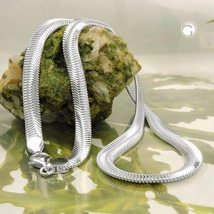 Kette 6x2mm flache Schlangenkette glänzend Silber 925 42cm