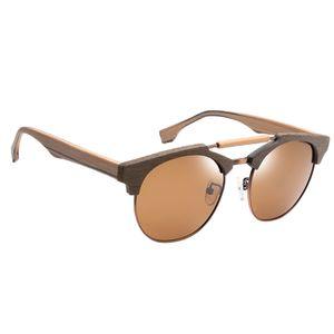Uni Polarisierte Bambus-Sonnenbrillen Überziehbrille Korrekturbrille 100% UV-Schutz Farbe 01