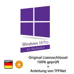 Microsoft® Windows 10 Pro Workstation 32 bit & 64 bit Vollversion Original Aktivierungsschlüssel per E-Mail + Anleitung von TPFNet®