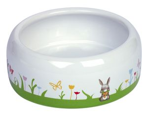 "Nobby Nager Keramik-Futtertrog ""Flower"" weiß/bunt 500 ml, 73752"