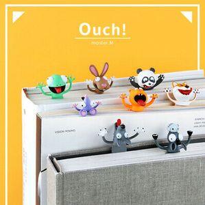 4 Stk 3D Stereo Cartoon Tier Lesezeichen Frosch + Wolf + Kaninchen + Maus Book Marks Kinder Lesezeichen