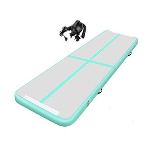 Wolketon 400cm Turnmatte AirTrack Elektro Pumpe Gymnastikmatte Tumbling mit ElektropumpeحGruenح400*100*10cm