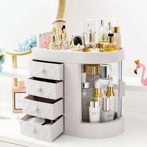 Dressing Box Transparenter Desktop Schublade mit großer Kapazität Integrierte Hautpflege Lippenstift Makeup Organizer Aufbewahrungsbox