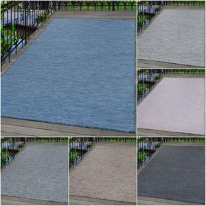 Outdoor Indoor Teppich,Terassenteppich,einfarbig Flachgewebe,Rechteckig, Maße:140 cm x 200 cm, Farbe:Anthrazit
