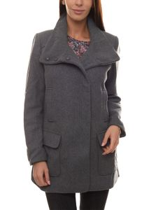 BOYSEN´S Woll-Jacke leichte Damen Outdoor-Jacke mit Stehkragen Grau, Größe:40