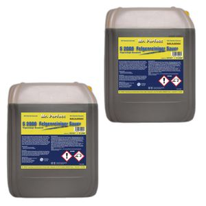 Mr. Perfect® S 2000 Felgenreiniger, 2 x 5L - säurehaltiges Konzentrat mit hoher Schmutzlösekraft entfernt Flugrost und hartnäckigsten Bremsstaub