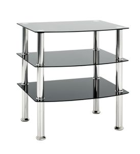 Haku Beistelltisch - Edelstahl/schwarz - Maße: 54 cm x 45 cm x 61 cm; 15509