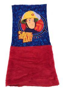 Feuerwehrmann Sam Kinder Schal Schlauchschal Snood Loop Bandana, Farbe:Rot