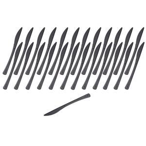 GRÄWE Tafelmesser aus CPLA, 25 Stück, schwarz