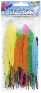 folia Indianerfedern 10 g farbig sortiert